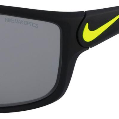 Rectangle Sunglasses: Black/Green Nike Ignition Black Sunglasses
