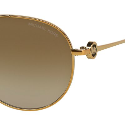 Handbags & Accessories: Michael Kors Accessories: Smoke/Gold Michael Kors Zanzibar Aviator Sunglasses