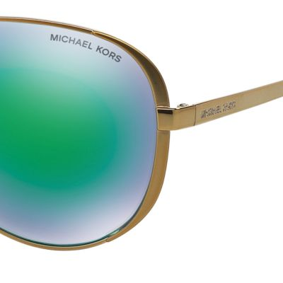 Handbags & Accessories: Michael Kors Accessories: Green Michael Kors Chelsea Aviator Sunglasses