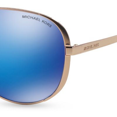Handbags & Accessories: Michael Kors Accessories: Blue Michael Kors Chelsea Aviator Sunglasses