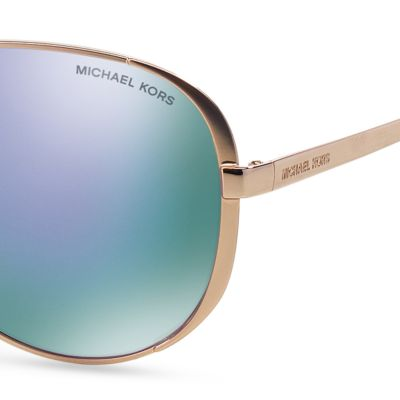 Womens Sunglasses: Purple Michael Kors Chelsea Aviator Sunglasses
