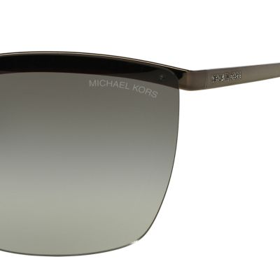 Rectangle Sunglasses: Grey Michael Kors Paphos Shield Sunglasses
