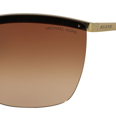 Rectangle Sunglasses: Brown Michael Kors Paphos Shield Sunglasses