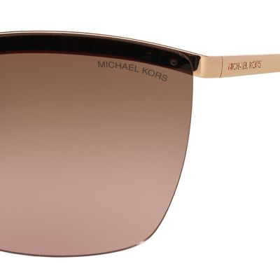 Rectangle Sunglasses: Rose Michael Kors Paphos Shield Sunglasses