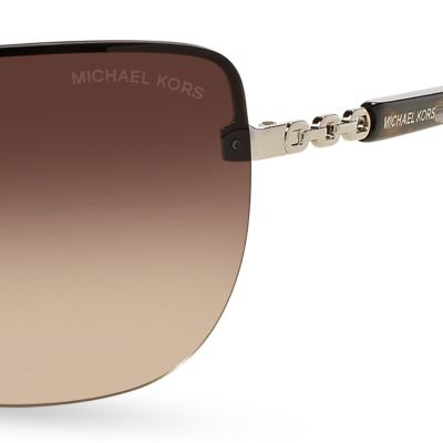 Rimless Sunglasses: Gradient Smoke Michael Kors Sabina I Sunglasses