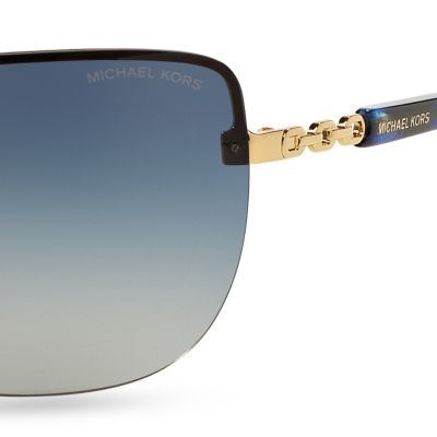 Rimless Sunglasses: Blue Gradient Michael Kors Sabina I Sunglasses