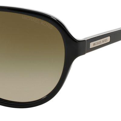 Aviator Sunglasses: Black Havana Michael Kors Wainscott Aviator Sunglasses