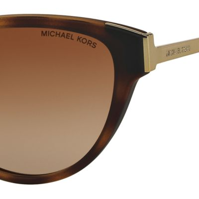 Womens Sunglasses: Dark Tortoise Michael Kors Punte Arenas Cateye Sunglasses