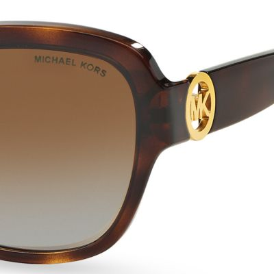 Handbags & Accessories: Michael Kors Accessories: Dark Tortoise Michael Kors Tabitha III Sunglasses