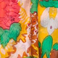 Scarves and Wraps: Mustard Urban Originals™ Vintage Garden Scarf