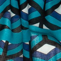 Scarves and Wraps: Jade/Black Urban Originals™ Cubes Scarf