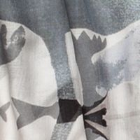 Scarves and Wraps: Green/Grey Urban Originals™ Japanese Leaves Scarf