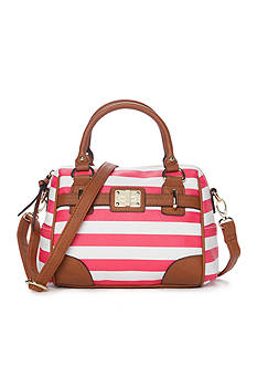 New Directions Stripe Combo Satchel