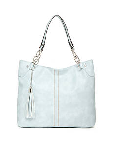 New Directions Double Handle Tassel Shopper