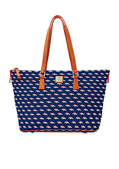 Dooney & Bourke Broncos Zip Top Shopper