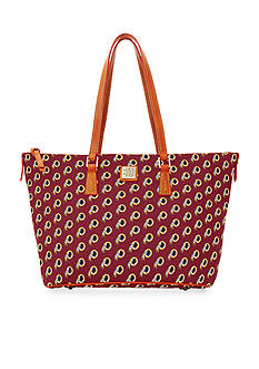 Dooney & Bourke Redskins Zip Top Shopper Bag