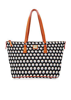 Dooney & Bourke Steelers Zip Top Shopper Bag