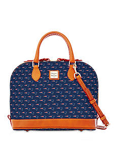 Dooney & Bourke Patriots Zip Satchel Bag