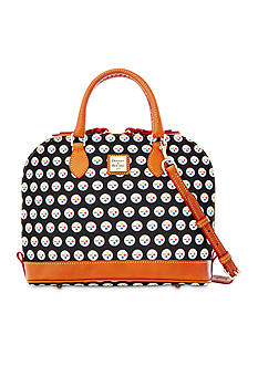 Dooney & Bourke Steelers Zip Satchel Bag
