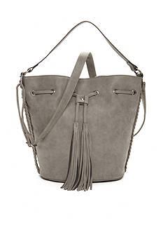 Red Camel Large Dark Grey Bucket Bag.