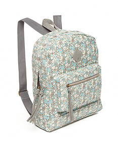 Red Camel Floral Print Backpack