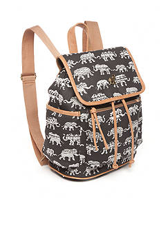 Red Camel Elephant Print Backpack