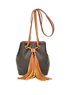 Red Camel Tassel Tote