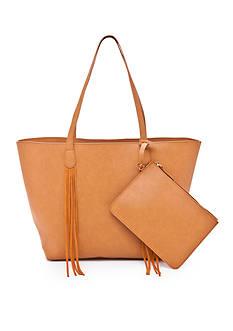 Red Camel Fringe Tote Bag