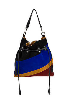 Patricia Nash Suede Colorblock Caffarelli Bag