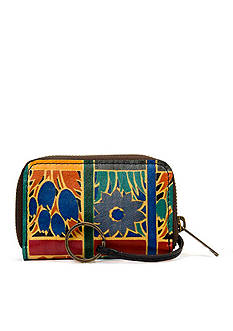 Patricia Nash Floral Squares Abri Zip Around Wallet