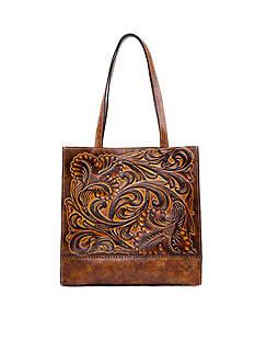 Patricia Nash Tuscan Tooled Toscano Tote Bag