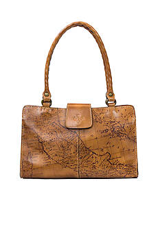 Patricia Nash Map Print Rienzo Satchel