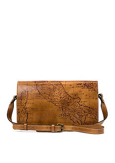 Patricia Nash Map Print Bari Square Flap Bag
