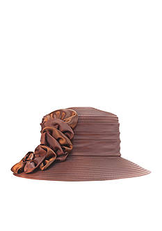 Giovannio Sheath Peek-a-Boo Rosette Hat