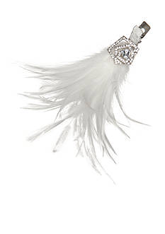 Giovannio Rhinestone and Feather Bridal Clip