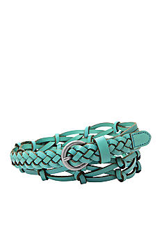 Fossil Knotted Woven Denim Belt