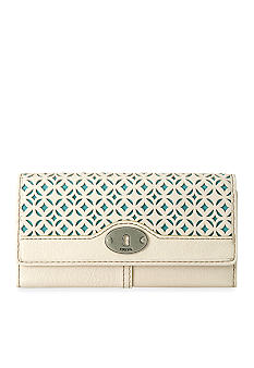 Fossil Marlow Perforated Leather Zip Clutch