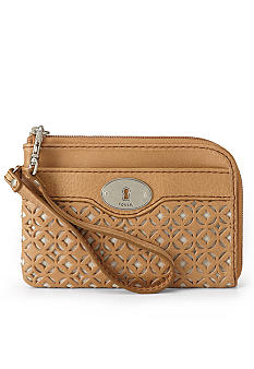 Fossil Marlow Perforated Leather Wristlet