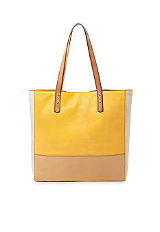 Fossil Zoey Leather Colorblock Tote