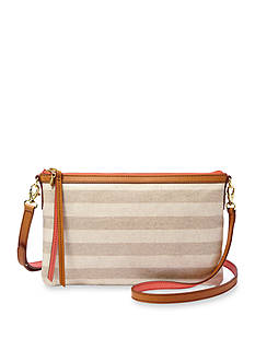 Fossil® Sydney Stripe Top Zip Crossbody
