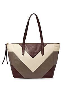 Fossil® Sydney Leather Patchwork Shopper