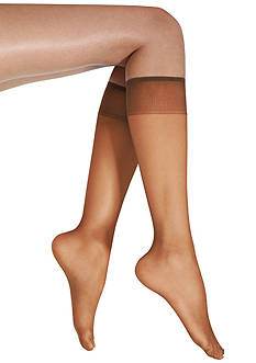 Donna Karan Satin Sheer Knee High Set of 2