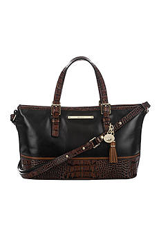 Brahmin Mini Asher Satchel Tuscan Tri-Texture Collection