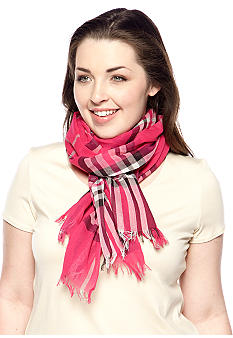 V Fraas Cotton Plaid Neckwrap