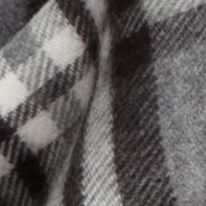 Handbags & Accessories: Cold Weather Sale: Grey Multi V Fraas Plaid Cashmink Infinity Scarf