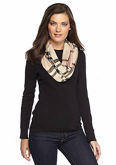 V Fraas Exploded Fraas Plaid Lightweight Infinity Scarf