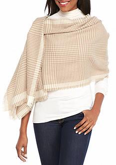 V Fraas Houndstooth Blanket Wrap