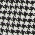 V Fraas Accessories: Black V Fraas Houndstooth Blanket Wrap