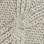 V Fraas Accessories: Gray V Fraas Cable Knit Poncho