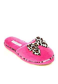 Jessica Simpson Scuff Slipper with Leopard Piping and Bow